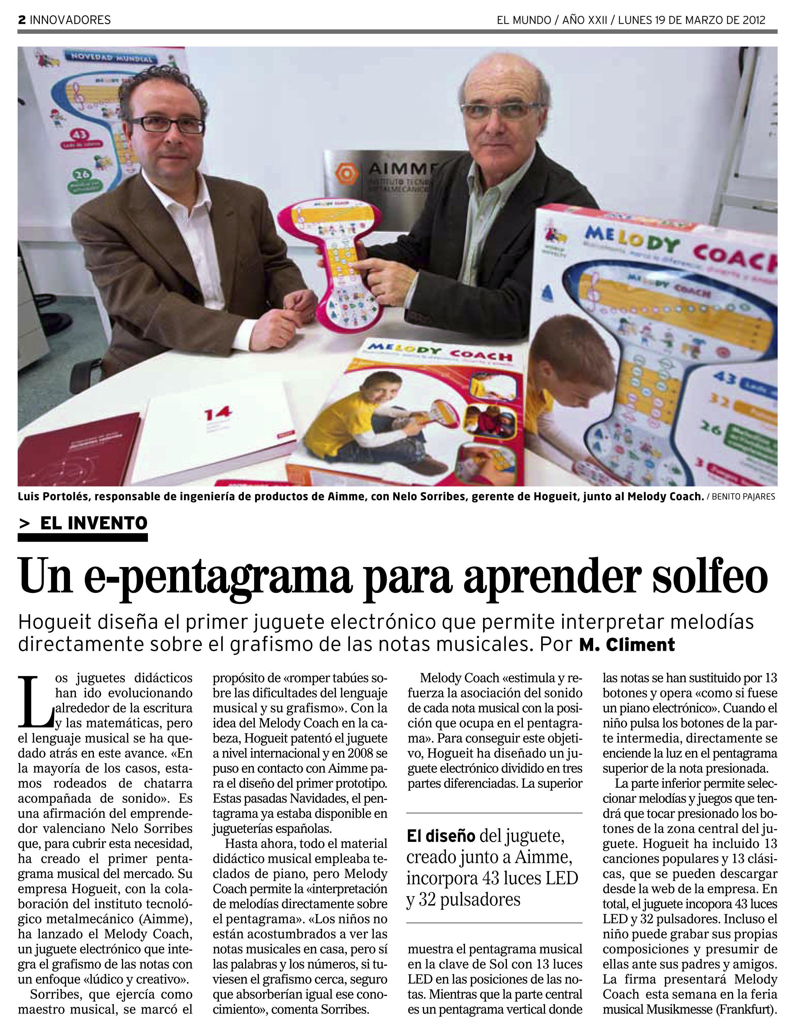 Diario El Mundo Marzo 2012