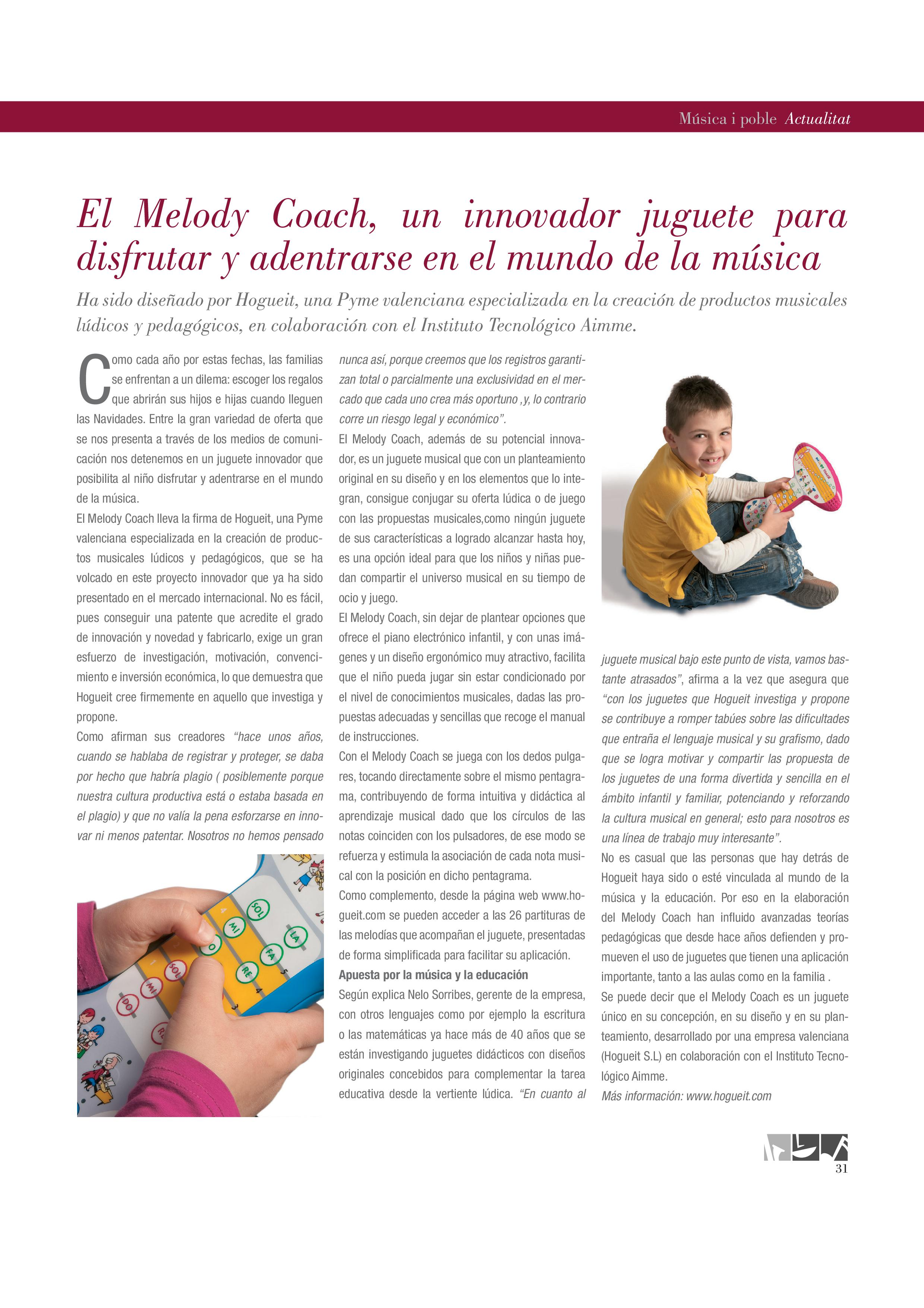 Melody Coach en la Revista MÚSICA I POBLE